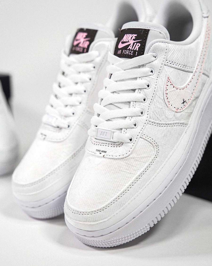 Nike W Air Force 1 Low Tear Here marron et rose (1-3)