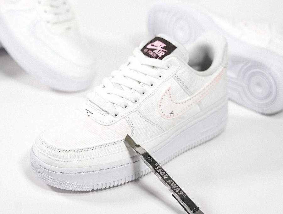 Nike W Air Force 1 Low Tear Here marron et rose (1)