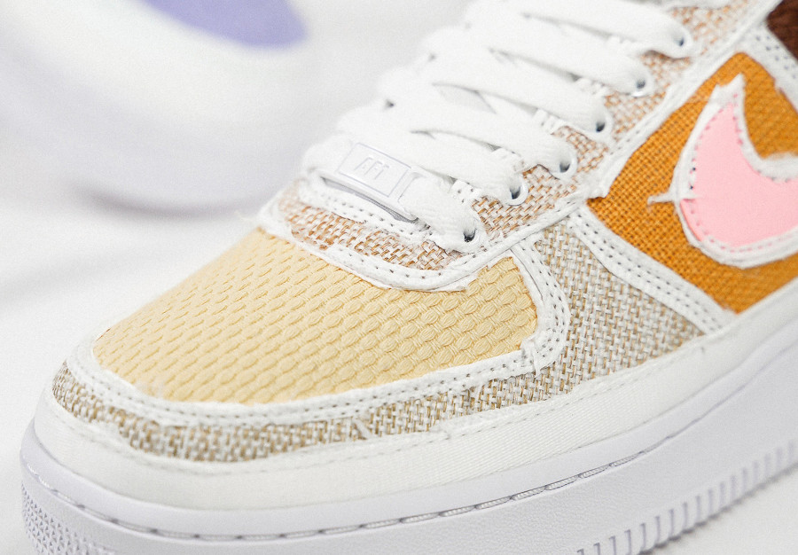 Nike W Air Force 1 Low Tear Here marron et rose (2)
