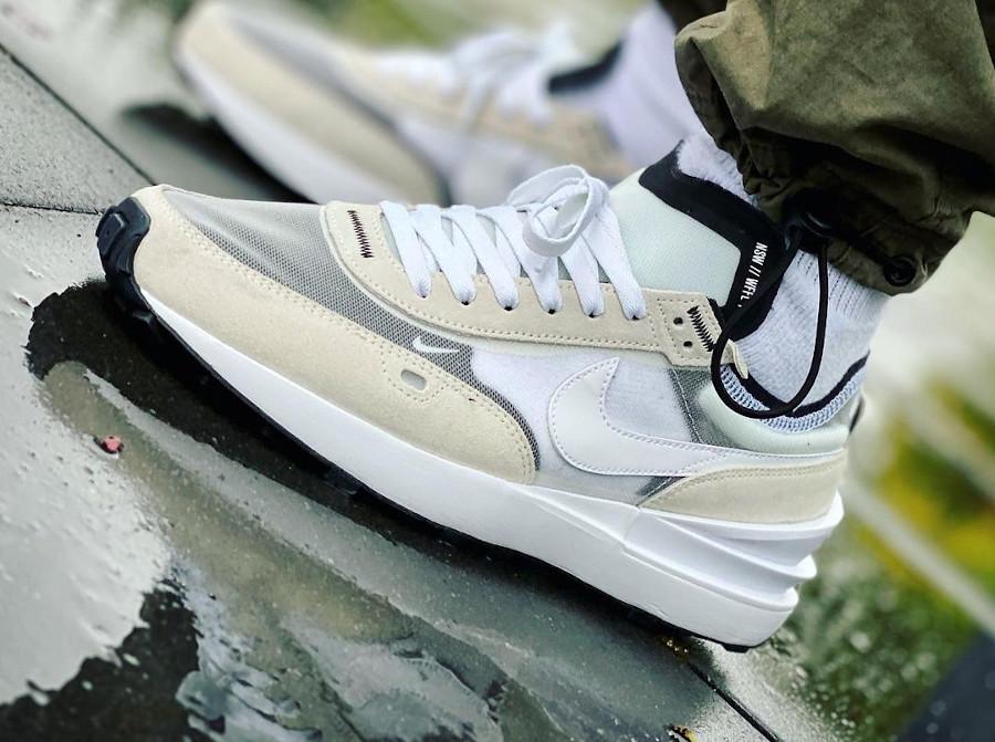 Nike Waffle One 1 Sacai Summit White Grey on feet