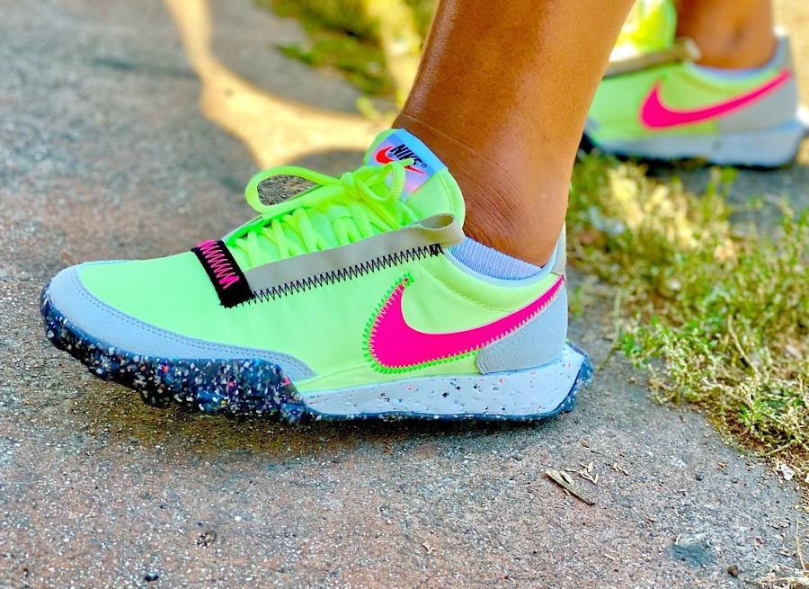 Nike Waffle Racer Crater Grind Eletric Volt pas cher