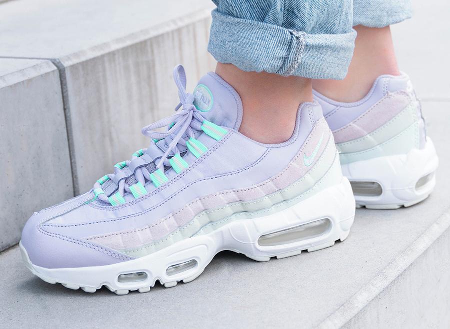 Nike Wmns Air Max 95 lavender pas cher