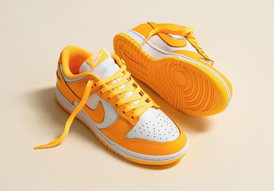 Nike Wmns Dunk Low jaune Laser Orange Sail DD1503-800