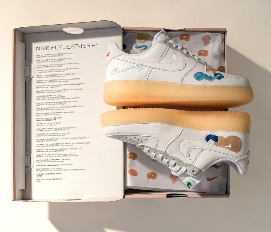 zmzm mayu x Nike Air Force 1 blanche recyclée (1)