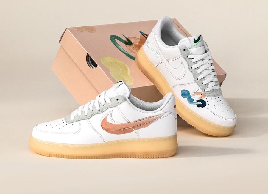 zmzm mayu x Nike Air Force 1 blanche recyclée (3)