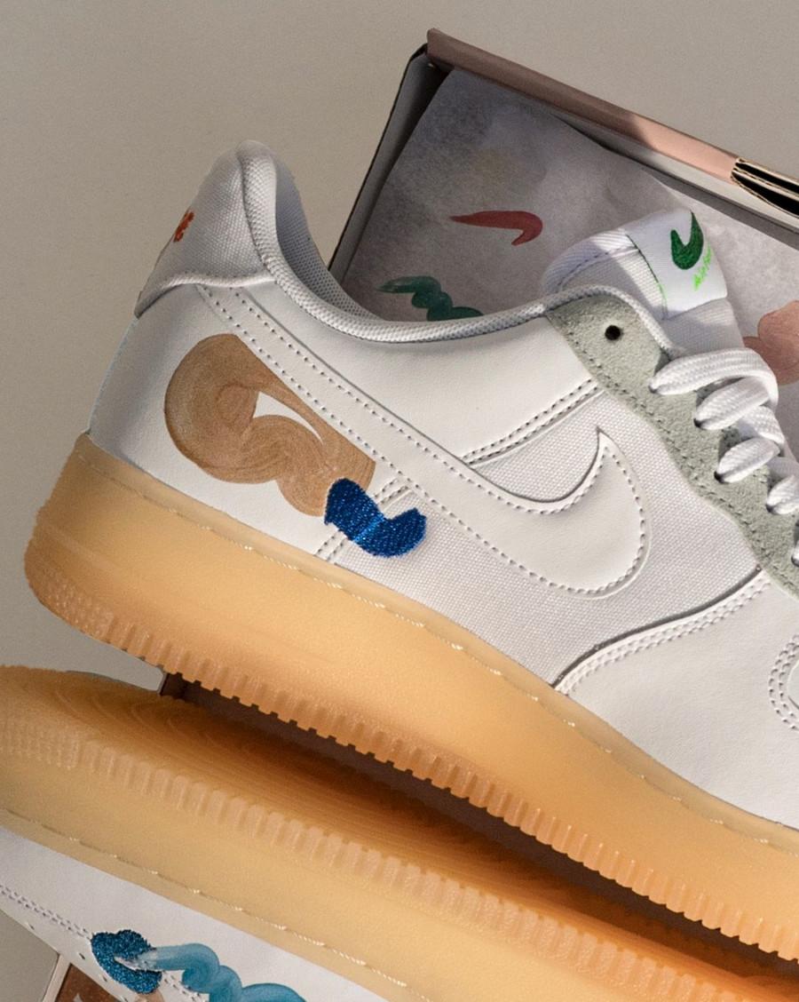 zmzm mayu x Nike Air Force 1 blanche recyclée (4)