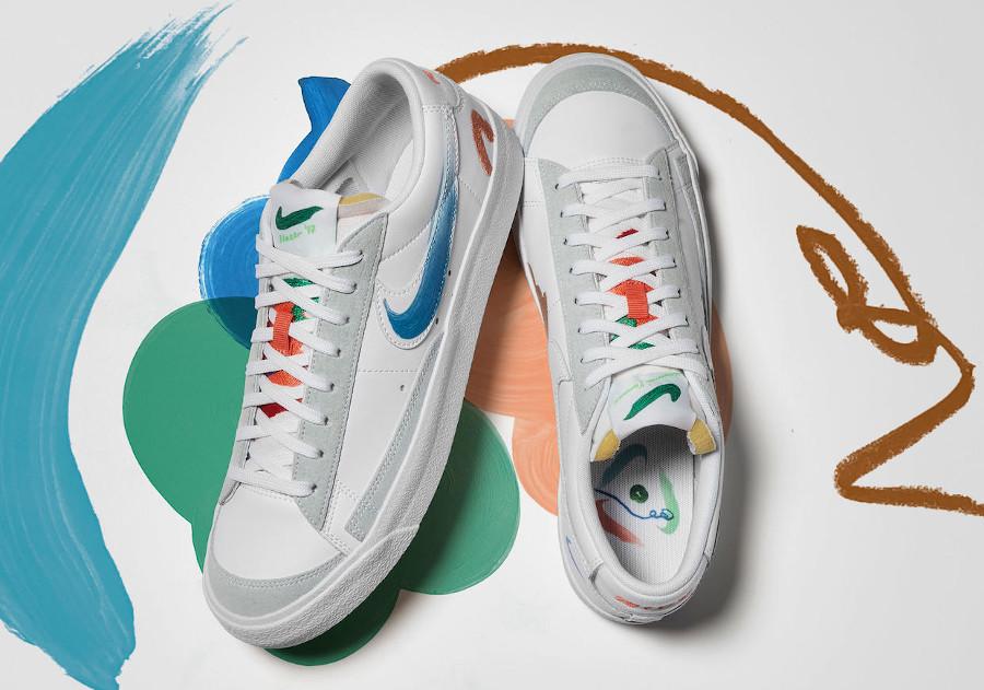 zmzm mayu x Nike Blazer Low 77 blanche (1)
