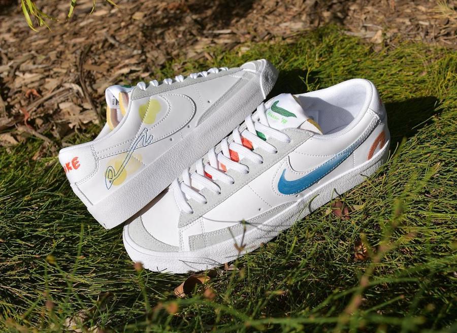 zmzm mayu x Nike Blazer Low 77 blanche (5)