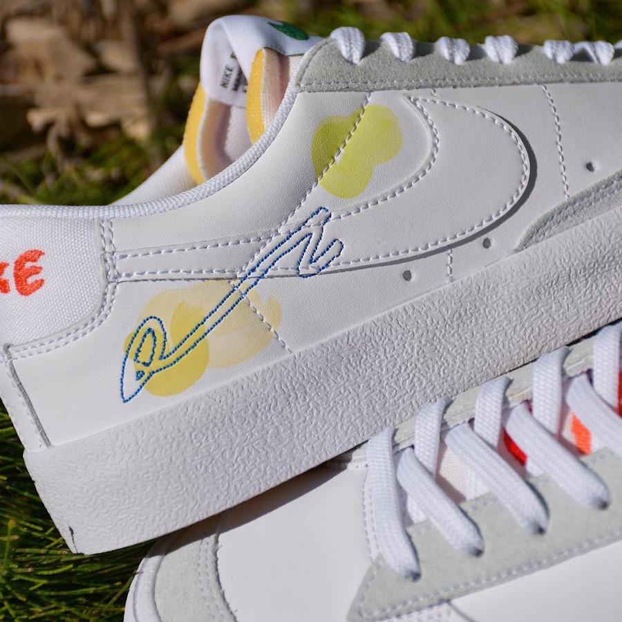 zmzm mayu x Nike Blazer Low 77 blanche (7)