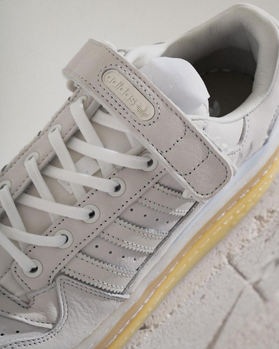 Adidas Forum 84 Low plateforme gris blanche et beige (2)