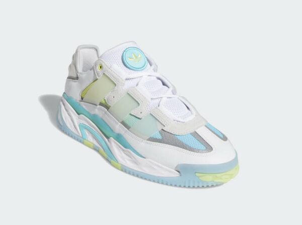 Adidas Niteball 2021 White Pulse Aqua Yellow S24137