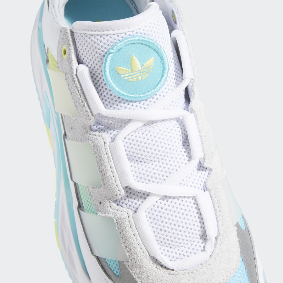 Adidas Niteball blanche bleu et jaune pastel (3)