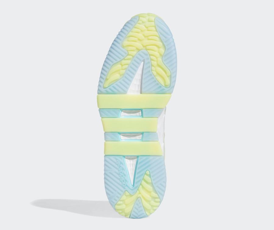 Adidas Niteball blanche bleu et jaune pastel (5)