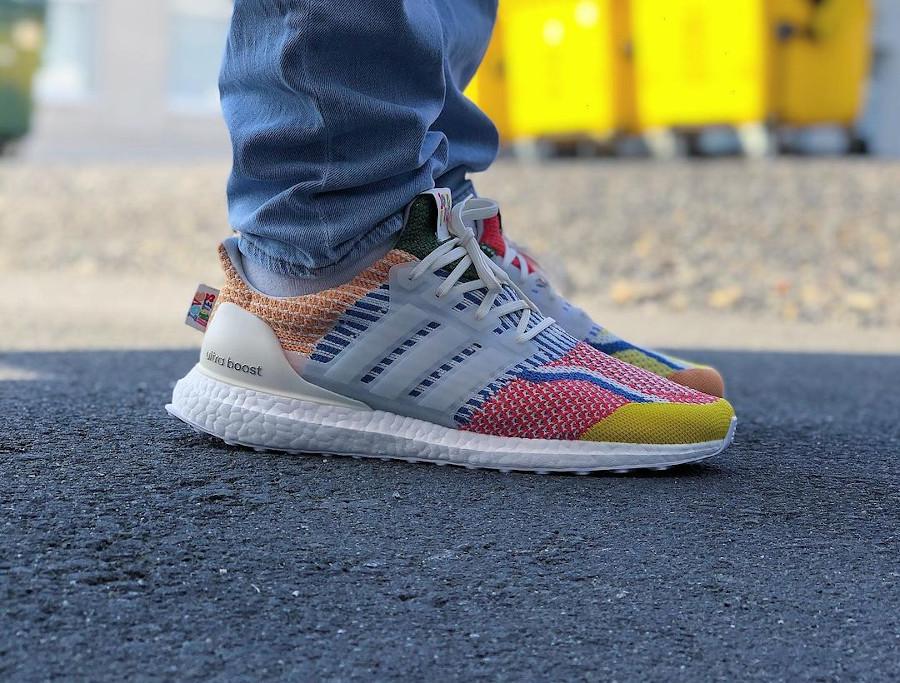 Adidas Ultra Boost Gay Pride 2021 on feet (3)