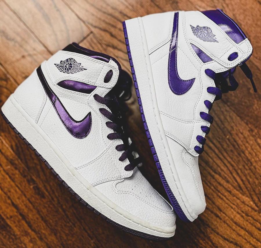 Air Jordan 1 Grand Purple (2009) & Court Purple (2021)