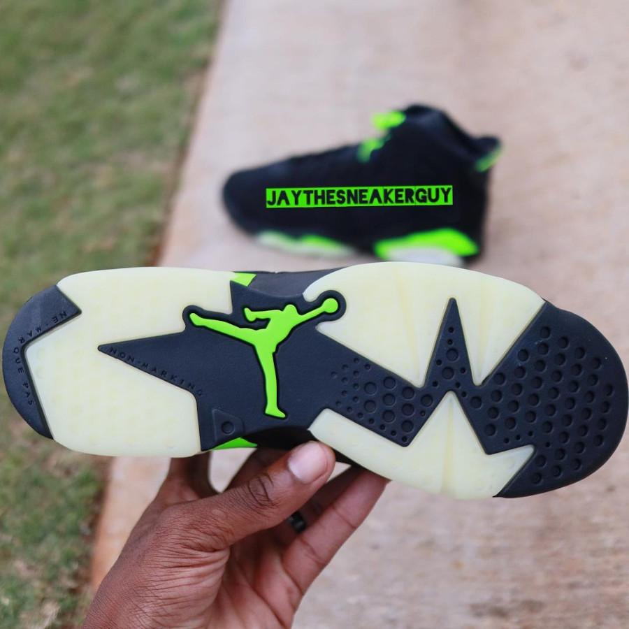 Air Jordan 6 noire et vert electrique (3-1)