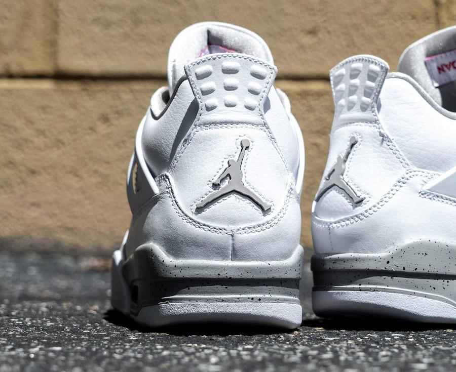 Air Jordan IV blanche imprimé ciment (1)