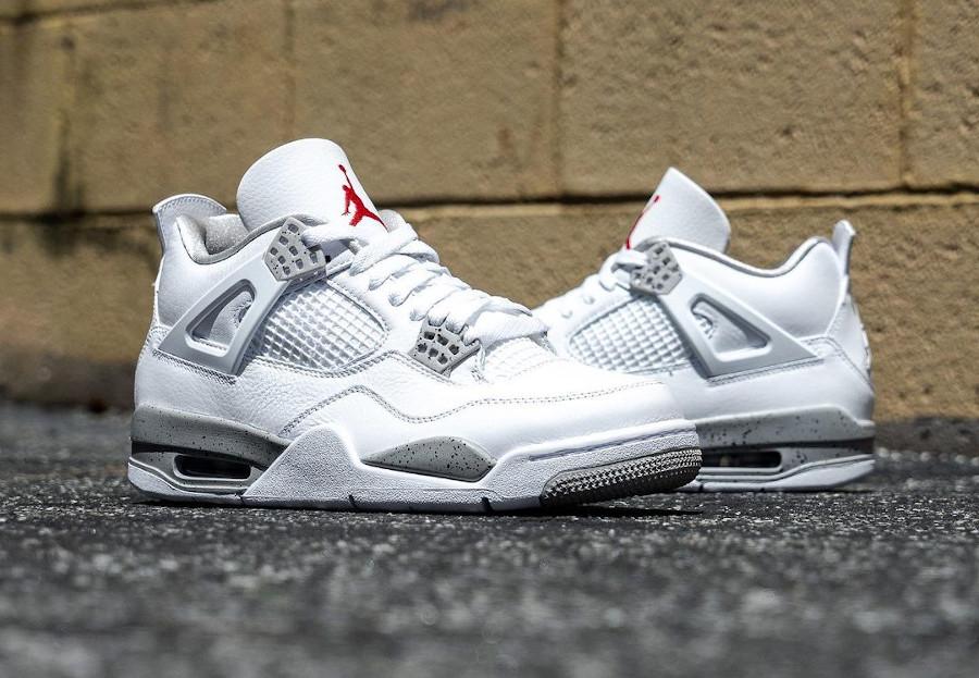 Air Jordan IV blanche imprimé ciment (2)
