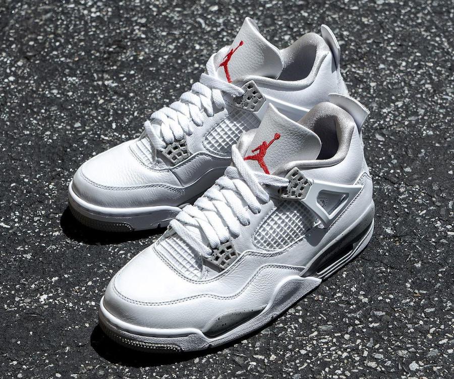 Air Jordan IV blanche imprimé ciment (3)