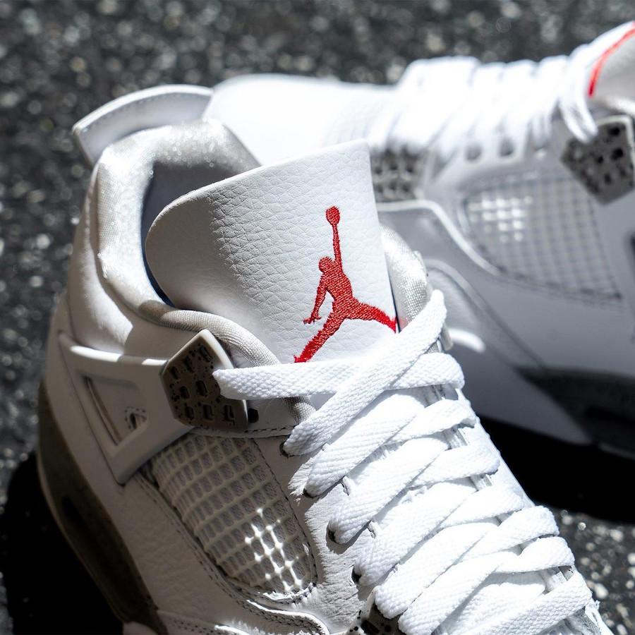 Air Jordan IV blanche imprimé ciment (4)
