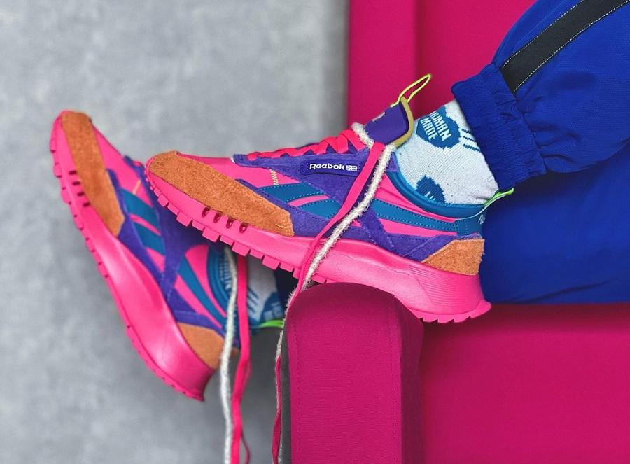 Daniel Moon x Reebok CL Legacy Multicolor on feet