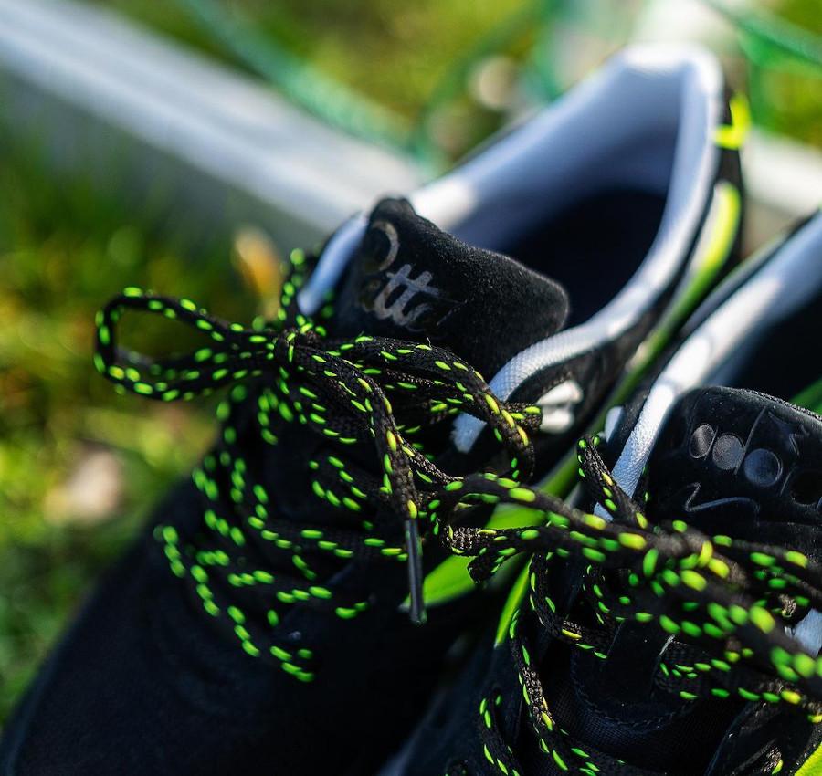 Diadora N 9000 en nubuck noir et vert fluo (3)