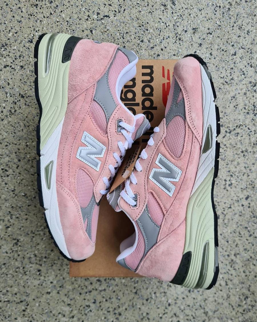 New Balance 991 rose et grise 2021 (2)