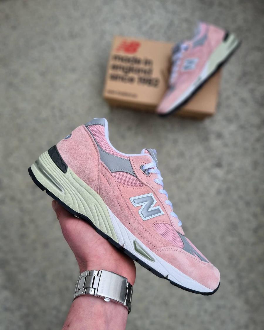 New Balance 991 rose et grise 2021 (3)