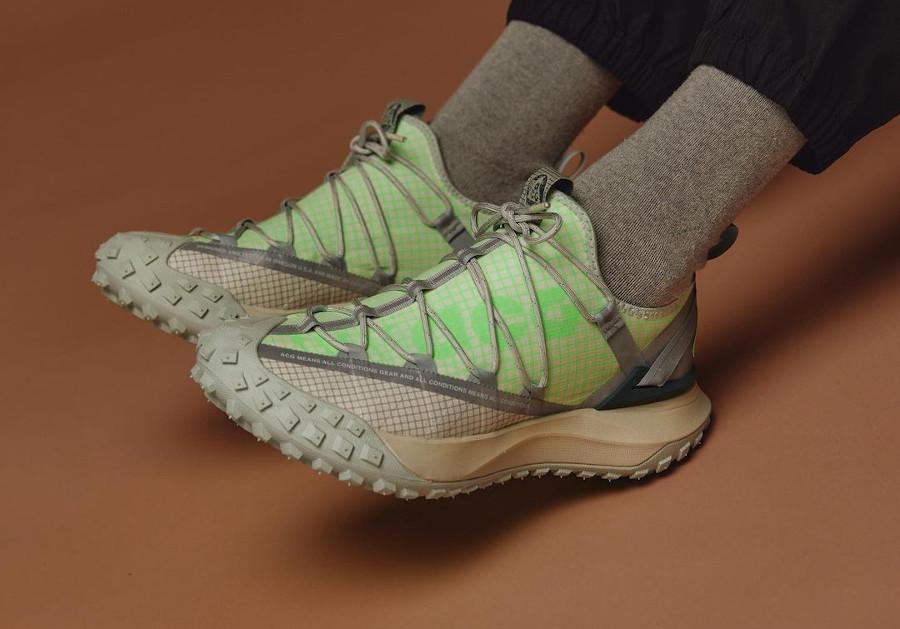 Nike ACG Mountain Fly Low 'Sea Glass' on feet