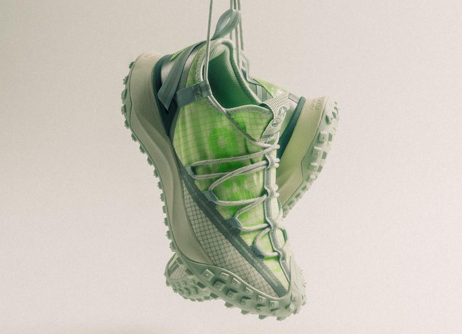 Nike ACG Mountain Fly Low vert fluo et beige (1)