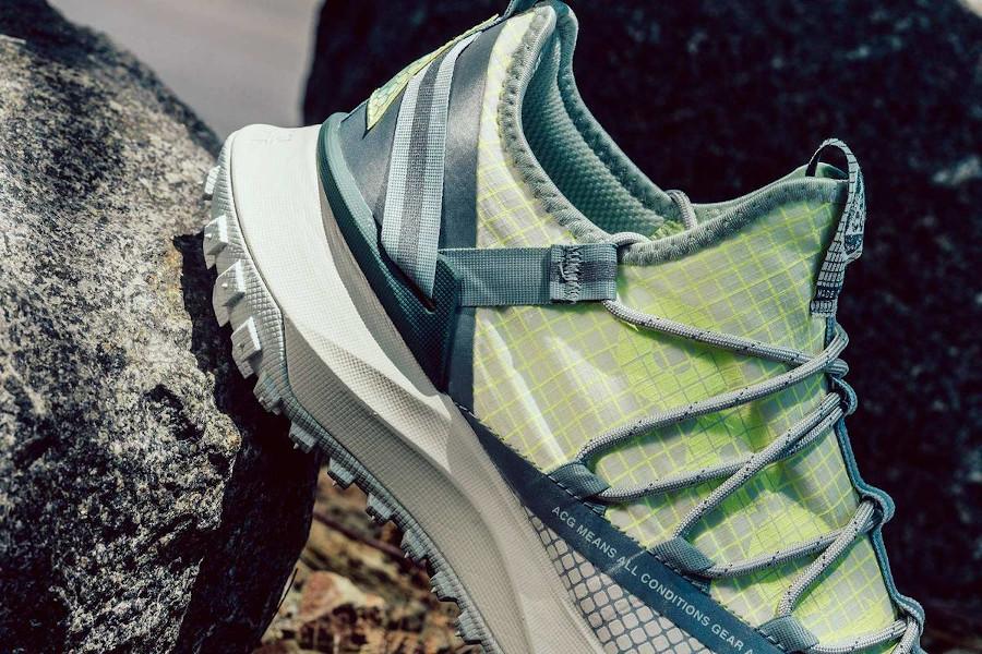 Nike ACG Mountain Fly Low vert fluo et beige (2)
