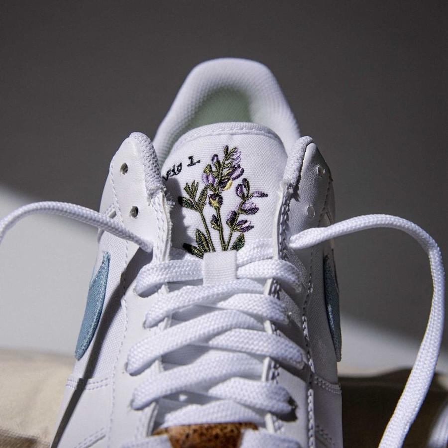 Nike Air Force One fleurs indigotier (3)