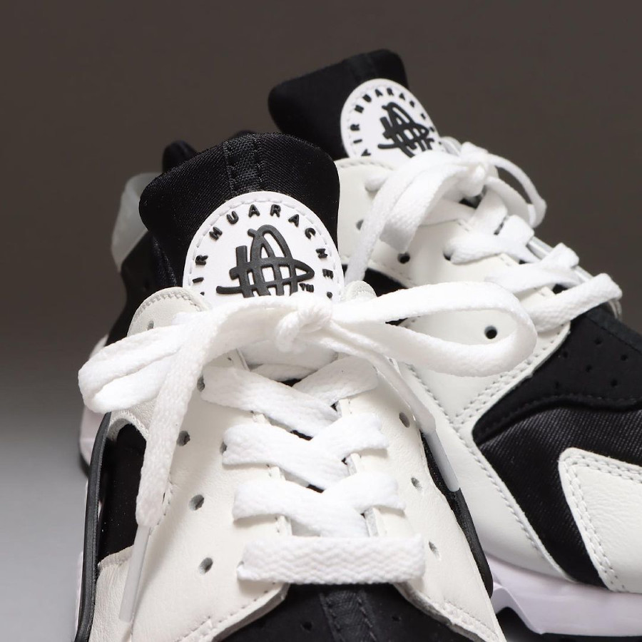 Nike Air Huarache orque blanche et noire (3)