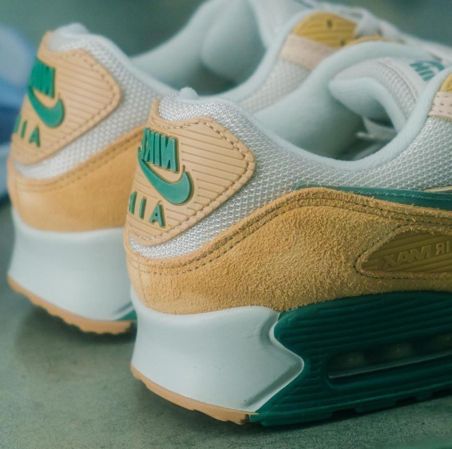 Nike Air Max 90 Premium 2021 beige pastel et vert (1)