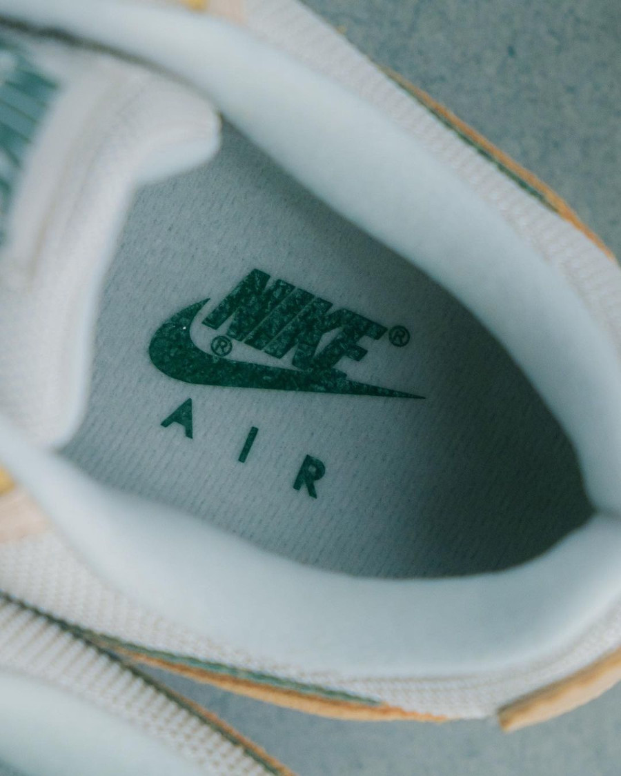 Nike Air Max 90 Premium 2021 beige pastel et vert (3)