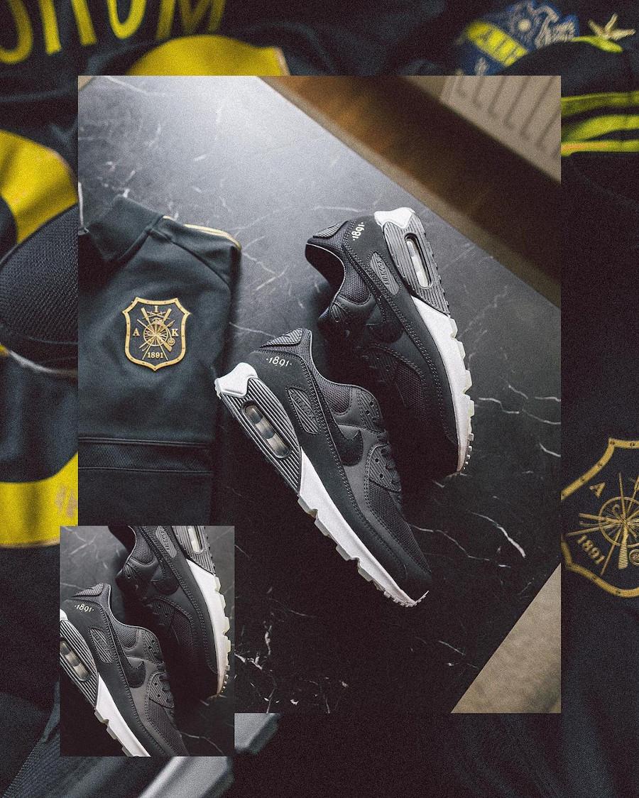 Nike Air Max 90 Premium Black Gold Allmänna Idrottsklubben (1)