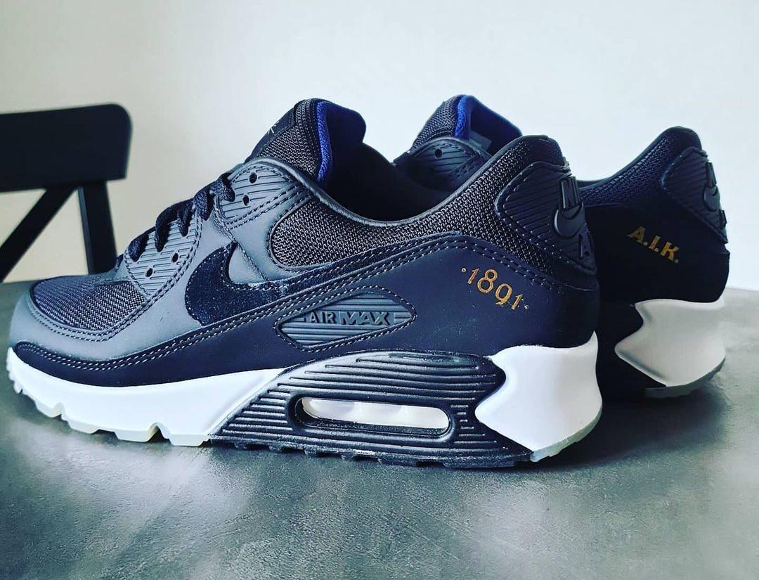 Nike Air Max 90 Premium Black Gold Allmänna Idrottsklubben (3)