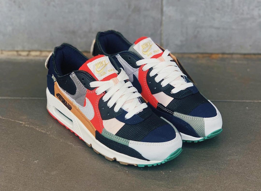 Nike Air Max 90 Wmns recyclée multicolor (2)