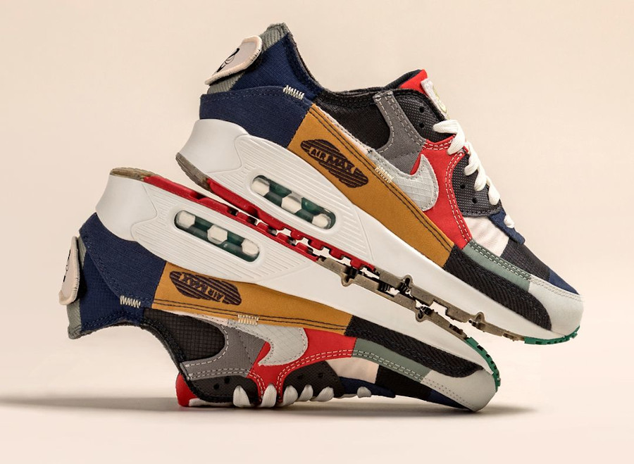 Nike Air Max 90 Wmns recyclée multicolor (6)