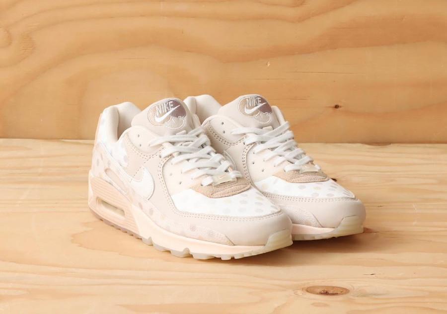 Nike Air Max 90 beige (motif à pois) CZ1929 200 (3)