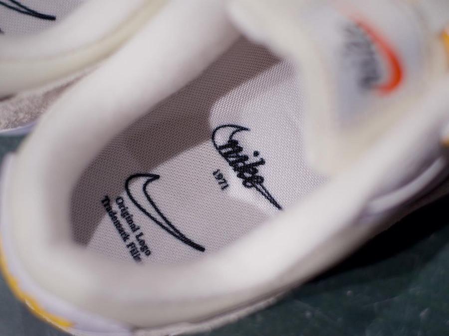 Nike Air Max 90 femme blanche beige et dorée (1)
