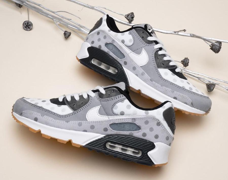 Nike Air Max 90 grise (motif à pois) cz1929-100 (2)