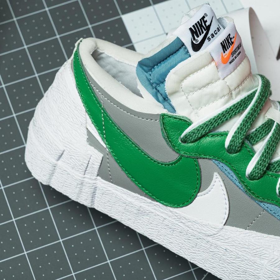 Nike Blazer Low blanche grise et verte DD1877-001 (2)