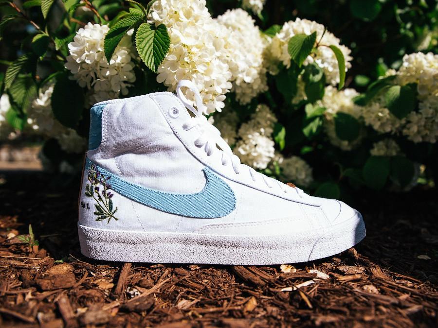 Nike Blazer Mid 77 Floral indigotier (1)