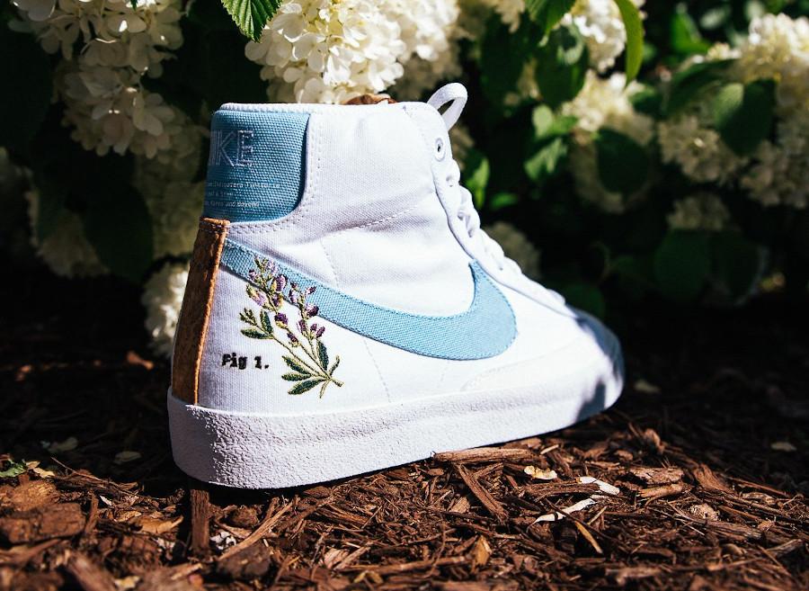 Nike Blazer Mid '77 SE Indigo Flower Plant Cork Pack