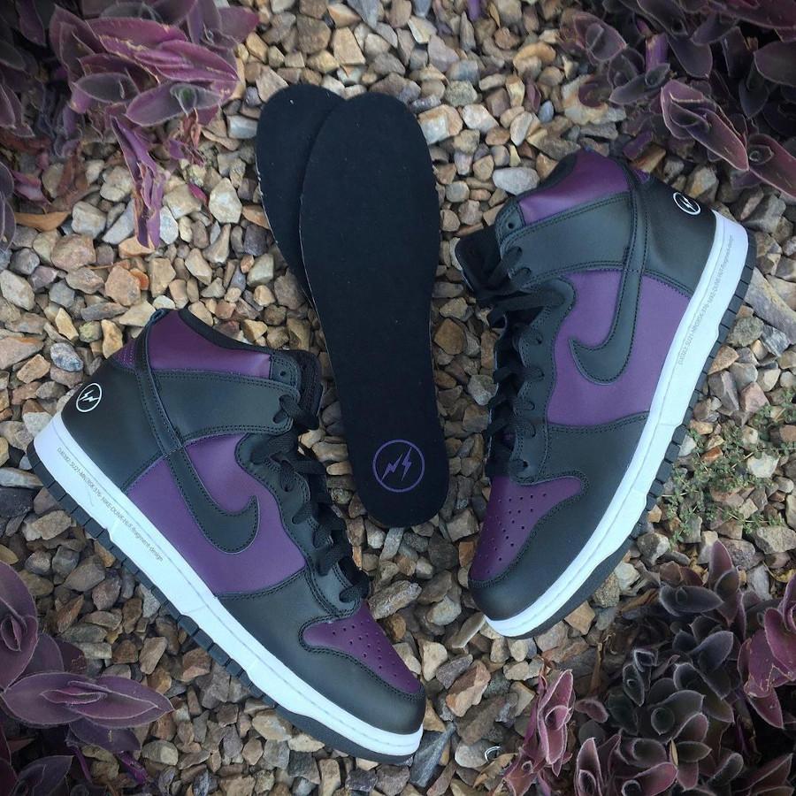 Nike Dunk Hi Hiroshi Fujiwara noire et bordeaux (1)