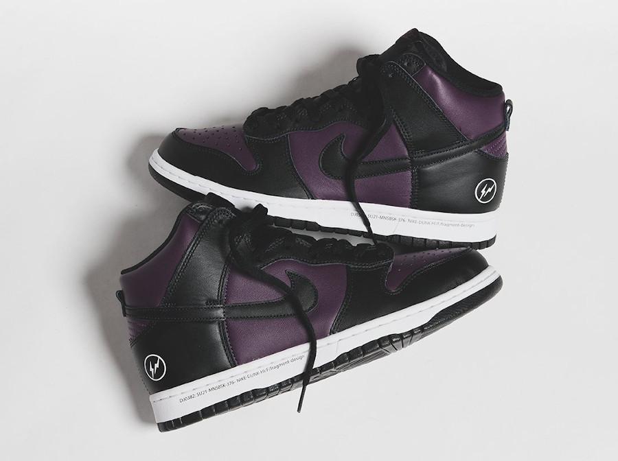 Nike Dunk Hi Hiroshi Fujiwara noire et bordeaux (2)