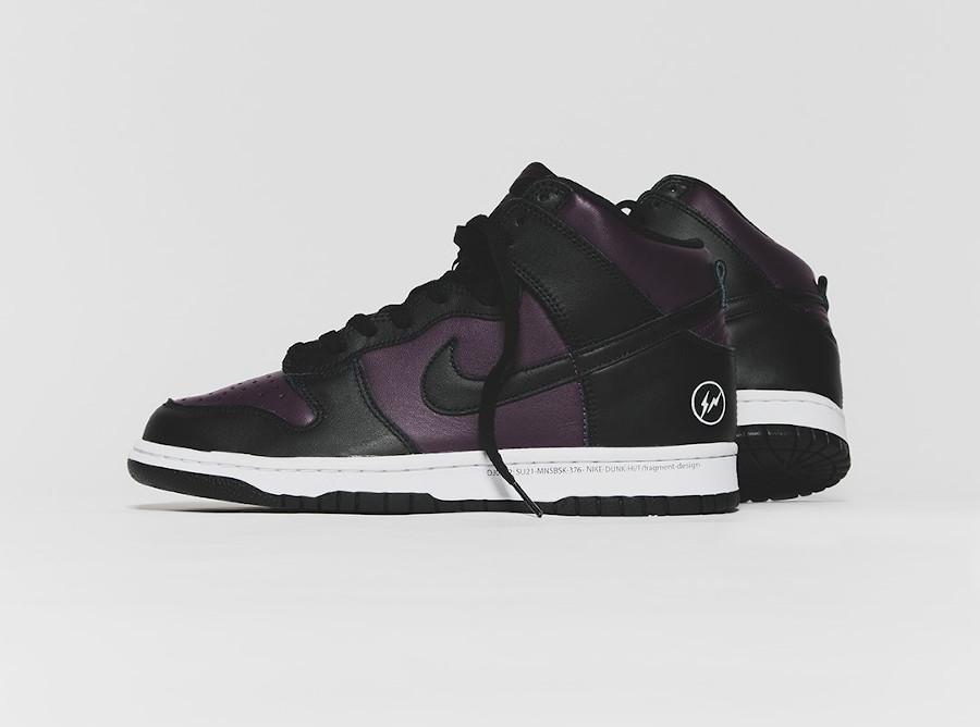 Nike Dunk Hi Hiroshi Fujiwara noire et bordeaux (3)