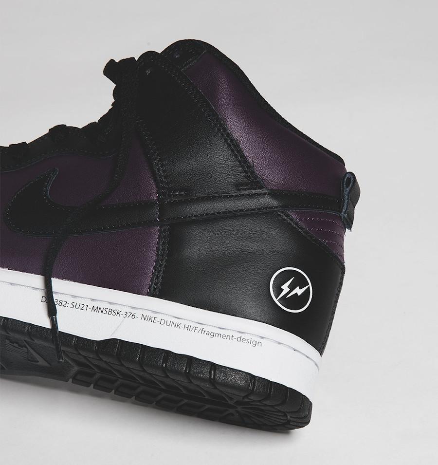 Nike Dunk Hi Hiroshi Fujiwara noire et bordeaux (4)