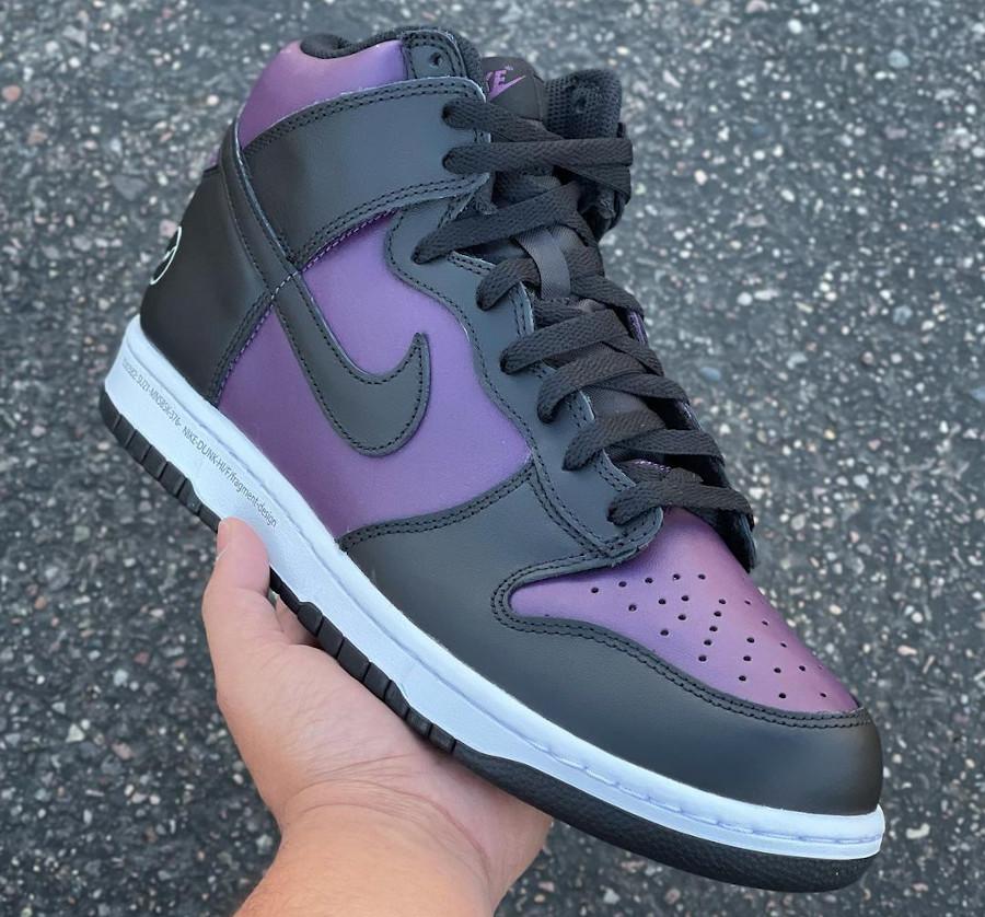 Nike Dunk Hi Hiroshi Fujiwara noire et bordeaux (5)